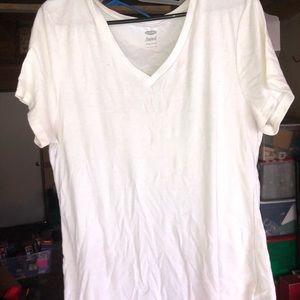 Simple white Vneck T-shirt
